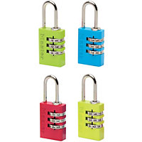 Master Lock Coloured Aluminium Combination Padlock - 20mm
