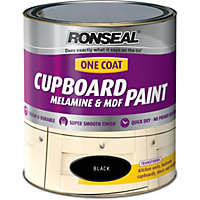 Ronseal Black - One Coat Cupboard Paint - 750ml