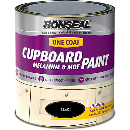 Image for Ronseal Black - One Coat Cupboard Paint - 750ml from StoreName