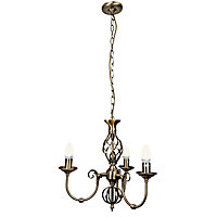 Madagascar 3 Light Fitting - Antique Brass Effect
