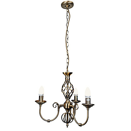 Image for Madagascar 3 Lamp Antique Brass Chandelier from StoreName