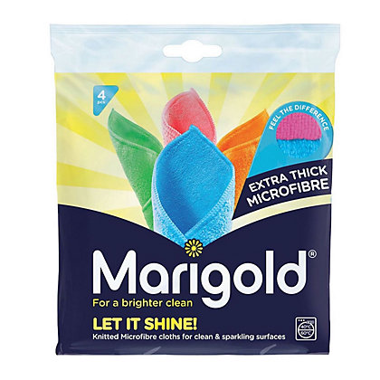 Image for Marigold Let It Shine MF Cloths - Pack of 4 from StoreName