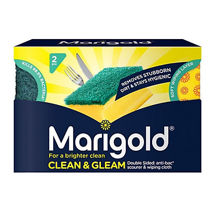 Image for Marigold Clean & Gleam Foam Scourers - Pack of 2 from StoreName