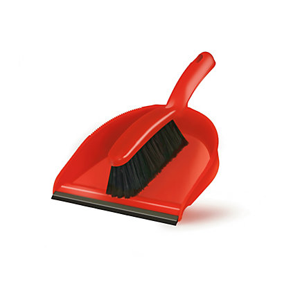 Image for Fluo Dustpan & Brush Set - Orange from StoreName