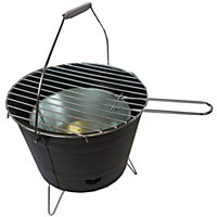 Black Portable Bucket BBQ
