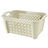 Plastic Ivory Laundry Basket - Small