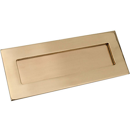 Image for Letter Plate - Polished Brass from StoreName