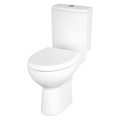 Image for Mondella Mardel White Compact Close Coupled Toilet - Takeaway from StoreName
