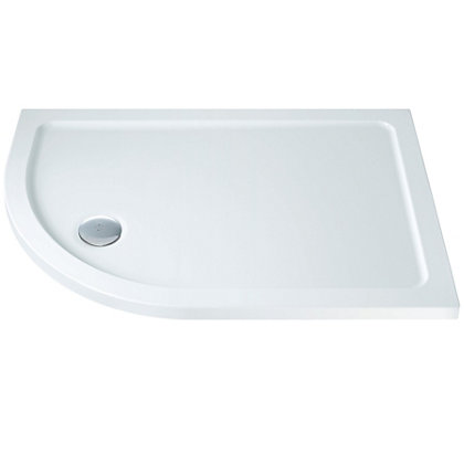 Image for Offset Left Hand Quadrant Shower Tray - 1200 x 800mm from StoreName