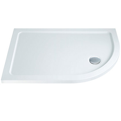 Image for Offset Right Hand Quadrant Shower Tray - 1200 x 800mm from StoreName