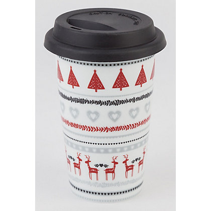 Image for Homespun Folk Stripe Travel Mug from StoreName