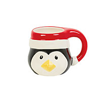 Penguin Head Mug with Looped Hat Handle