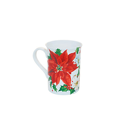 Image for Poinsettia Tall Flared Rim Mug from StoreName