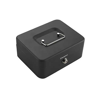 Image for Cash Box  - H90mm x W200mm x D160mm Black from StoreName