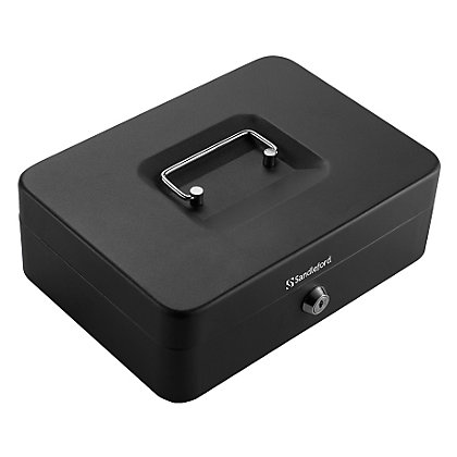 Image for Cash Box - H90mmxW250mmxD180mm - Black from StoreName