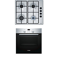 Bosch Single Oven HBN231E0B and Gas Hob PBP6B5S80 Pack