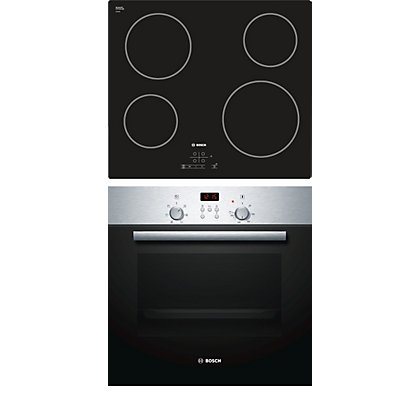 Bosch Single Oven And Ceramic Hob Pack