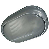 Oval Silver Wall Light
