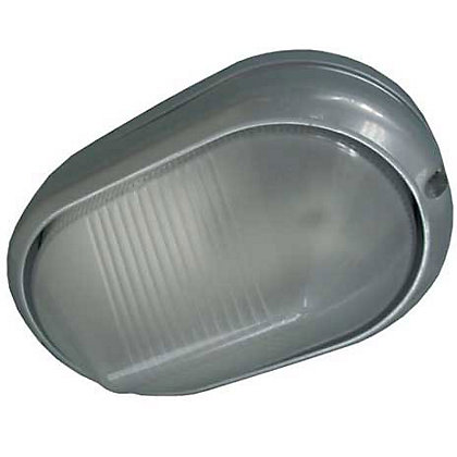 Image for Oval Silver Wall Light from StoreName