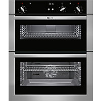 Neff U17S32N5GB Classic Built Under Double Oven - Stainless Steel