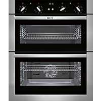 Neff U17M42N5GB Classic Built Under Double Oven - Stainless Steel