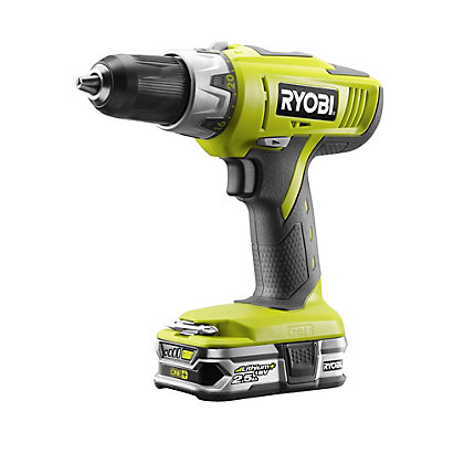 ryobi 18v one cordless percussion drill 2 x 2 5ah. Black Bedroom Furniture Sets. Home Design Ideas
