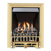Wareham Brass Slimline Radiant Gas Fire