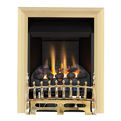 Image for Wareham Brass Slimline Convector Gas Fire from StoreName