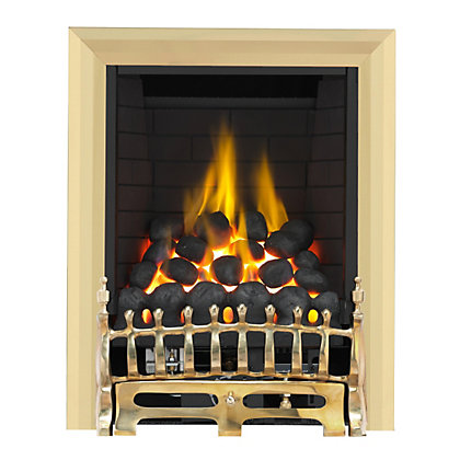 Image for Wareham Brass Full Depth Radiant Gas Fire from StoreName