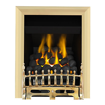 Image for Wareham Brass Full Depth Convector Gas Fire from StoreName