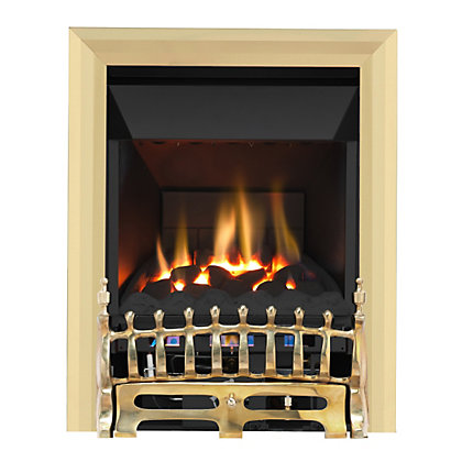 Image for Wareham Brass High Efficiency Gas Fire from StoreName