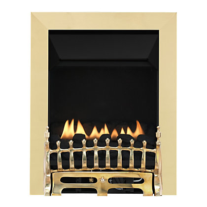 Image for Wareham Brass Flueless Inset Gas Fire from StoreName
