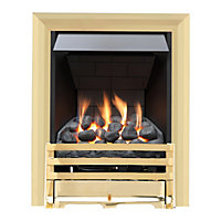 Grange Brass Slimline Radiant Gas Fire
