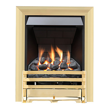 Image for Grange Brass Slimline Radiant Gas Fire from StoreName