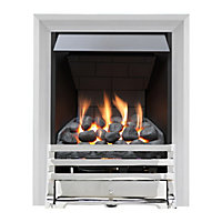 Grange Chrome Slimline Radiant Gas Fire