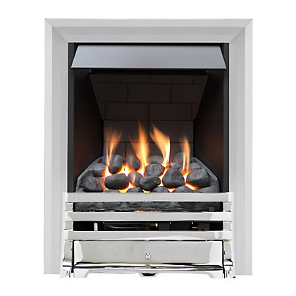 Image for Grange Chrome Slimline Radiant Gas Fire from StoreName