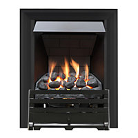 Grange Black Slimline Radiant Gas Fire