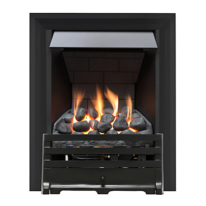 Image for Grange Black Slimline Radiant Gas Fire from StoreName