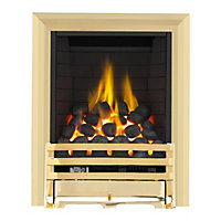 Grange Brass Full Depth Radiant Gas Fire
