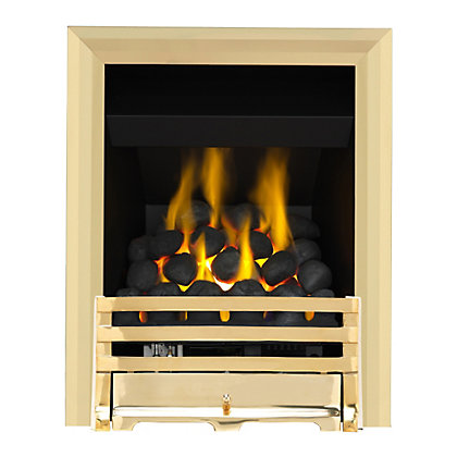 Image for Grange Brass Full Depth Convector Gas Fire from StoreName
