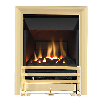 Image for Grange Brass High Efficiency Gas Fire from StoreName