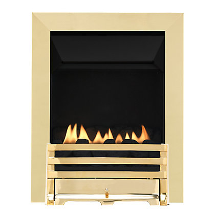 Image for Grange Brass Flueless Inset Gas Fire from StoreName