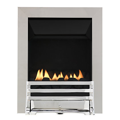 Image for Grange Chrome Flueless Inset Gas Fire from StoreName