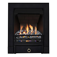 Stroud Black Slimline Radiant Gas Fire