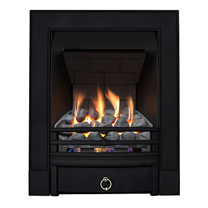 Image for Stroud Black Slimline Radiant Gas Fire from StoreName