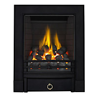 Stroud Black Full Depth Radiant Gas Fire