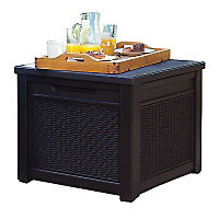 Keter Brown Rattan Effect Plastic Storage Cube