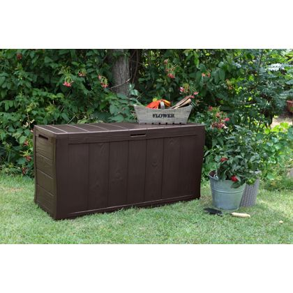 Keter Broadway Plastic Garden Storage Deck Box 270 Litre Capacity Large Size