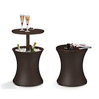 Keter Pacific Rattan Effect Garden Cool Bar - Brown / 30L