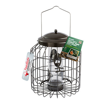 Image for Gardman Black Heavy Duty Squirrel Proof Seed Feeder from StoreName
